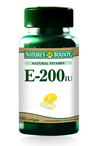 Natural Vitamin E 200 IU 100 softgels