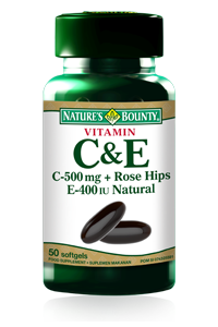Vitamin C & E 50 softgels