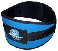 6 Inchi, Contour Form-Fit Belt Pro-47, Blue/Black (M)