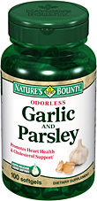Odorless Garlic and Parsley 100 Softgels