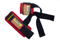 Deluxe Cotton Lifting Straps Pro-17 Black/Red (One Size)