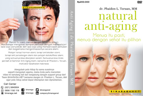 DVD Natural Anti-Aging oleh dr.Phaidon L.Toruan,MM