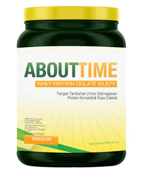 About Time Whey Protein Isolate Coklat 2 Lbs