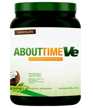About Time Vegan Protein Coklat 2 Lbs