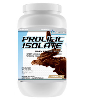 G6 Sports Prolific Isolate Vanilla 2.5 Lbs