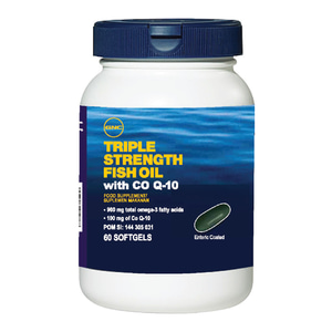 Triple Strength Fish Oil With COQ 10 - 60 Kapsul Lunak