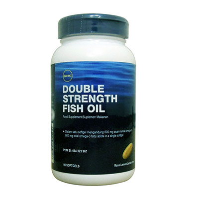 Double Strength Fish Oil 90 Kapsul Lunak