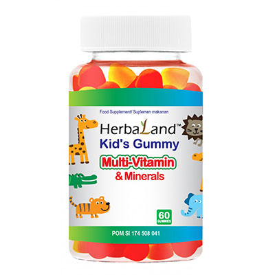 Kids Gummy Multivitamin dan Minerals 60 Tablet Kunyah