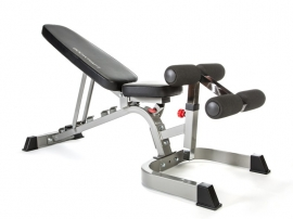 Commercial Flat,Incline, Decline Bench with Wheel (Diamond Gray) F602