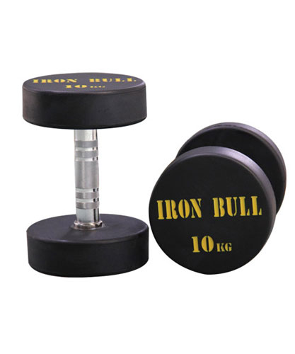 Rubber Dumbbell with IronBull Logo 1KG � 100360