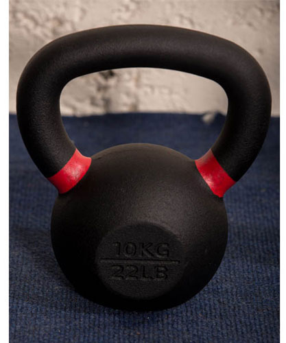 Gravity Cast Iron Kettlebell with color Band 10kg - IR1400
