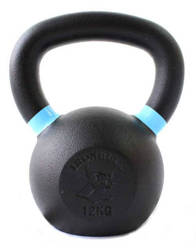 Gravity Cast Iron Kettlebell with color Band 12kg - IR1400