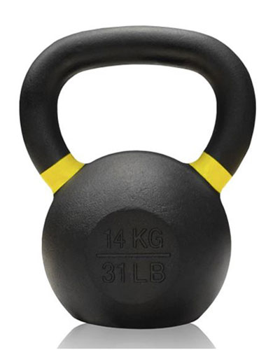 Gravity Cast Iron Kettlebell with color Band 14kg - IR1400