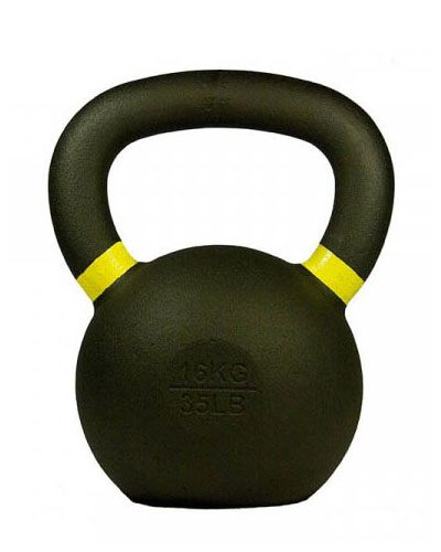 Gravity Cast Iron Kettlebell with color Band 16kg - IR1400