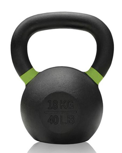 Gravity Cast Iron Kettlebell with color Band 18kg - IR1400