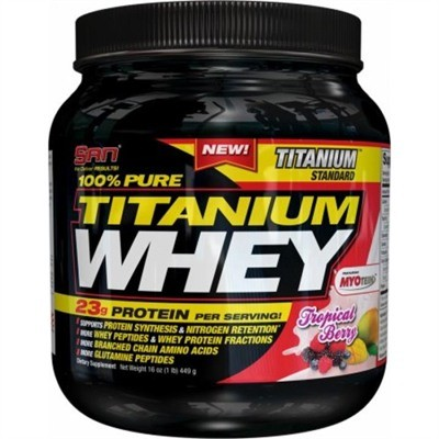 100% Pure Titanium Whey 2Lbs Tropical Berry