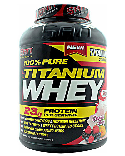100% Pure Titanium Whey 5Lbs Tropical Berry