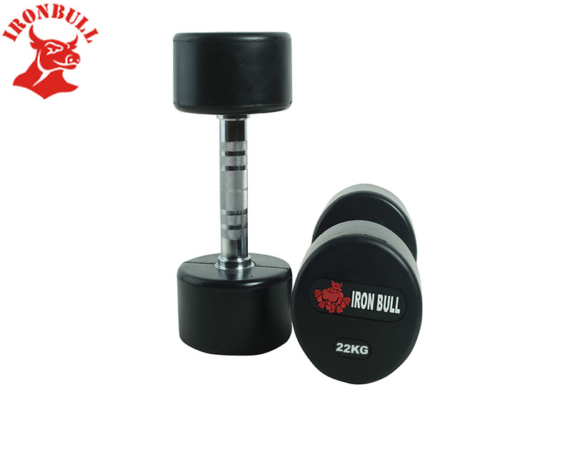 Rubber Dumbbel with IRONBULL LOGO 22KG-100320