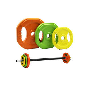 Color Rubber Pump Barbell 20kg Set-IR7207