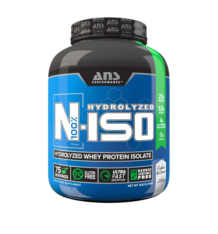 N Iso 4 lbs Hydrolized Whey Protein Isolate Cookies n Cream