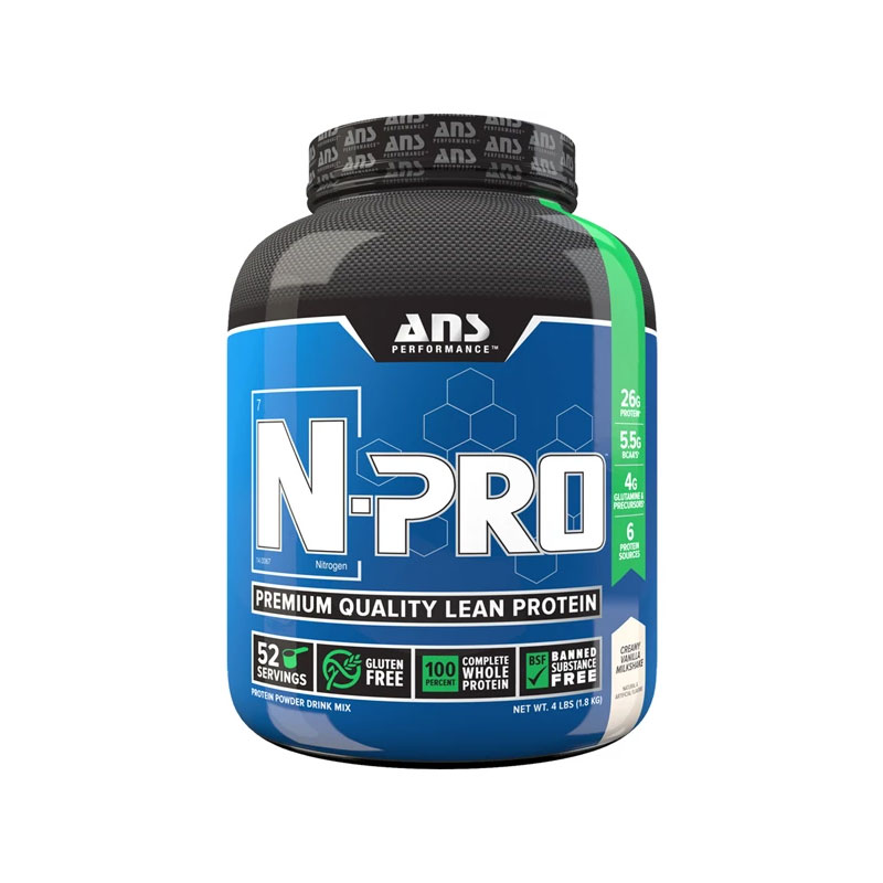 N-Pro 4Lbs Lean Protein Whey 50 Serving Vanilla