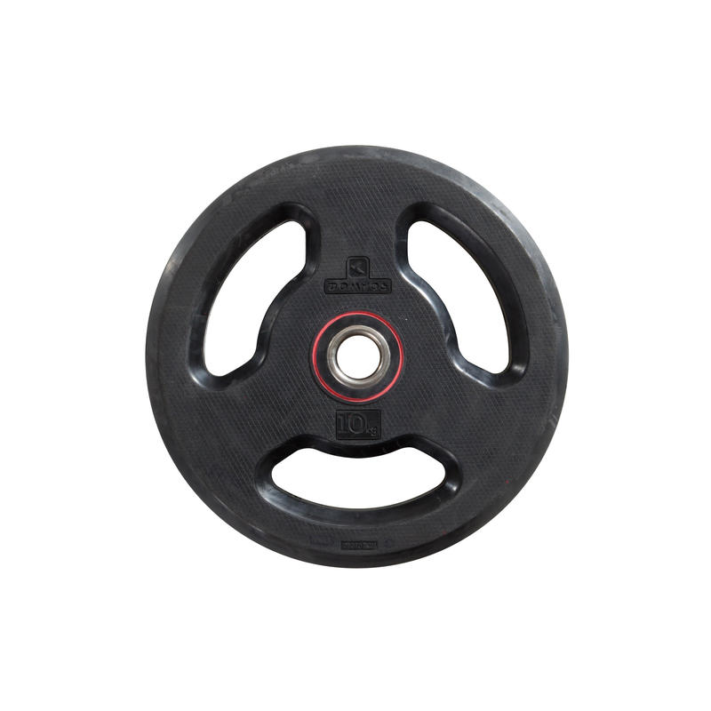 Rubber Weight disc with handles 28mm 10kg